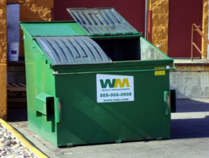 A picture of dumpsters for rent